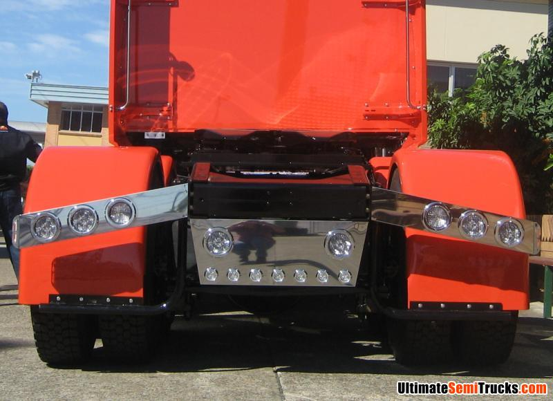 Ultimatesemitrucks custom light bars fitted to the sunrise custom rear light bars on the real wheels sunrise express western star mozeypictures Image collections