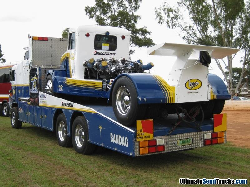 Rear View of the Bandag Bullet Transporter at the Gatton Lights on the Hill Convoy 2010