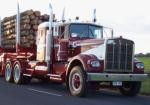 Murray Langford's classic W924 with Tabeel B Double Logging trailers