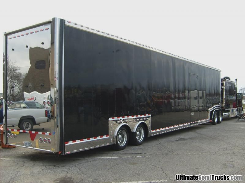 Peterbilt with enclosed van trailer from the 2008 Mid America Truck Show
