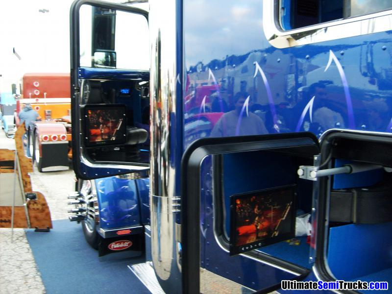 Custom Peterbilt with TV in the sleeper door from the 2008 Mid America Truck Show