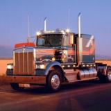 Kenworth At Dusk Diesel Big Rig Truck Art Print Poster