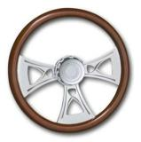 "Kenworth Steering Wheel Chrome CROSS 18"" Tilt 95'-97'"