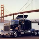 Peterbilt Semi Truck Golden Gate Bridge Big Rig San Francisco Art Print Poster