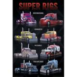 Super Rigs Trucks Art Poster Print