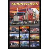 Supertrucks - Semi Trucks Art Poster Print