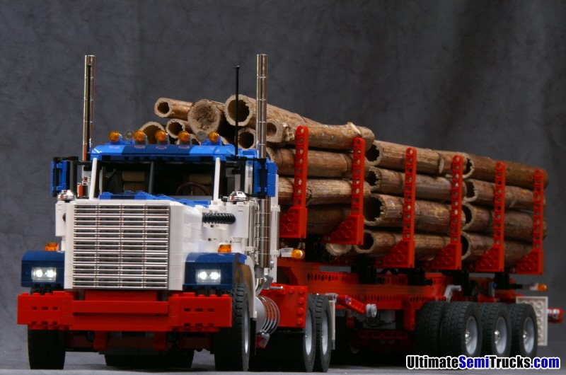 Lego Semi Truck with Log Trailer by Ingmar Spijkhoven