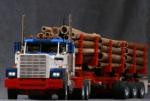 Lego Semi Truck with Logging Trailer by Ingmar Spijkhoven
