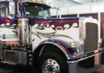 Custom graphics and Marbled paint on an American Truckworks Pete