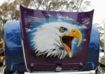 Airbrushed Eagle Hood