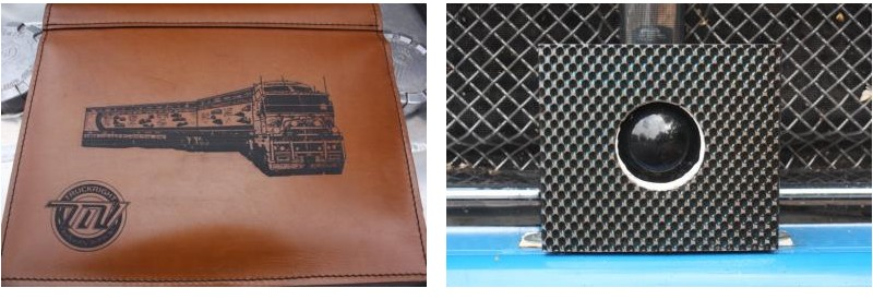 Rimex Metal Products Sensor Trim and Underhide Leather Logbook Cover