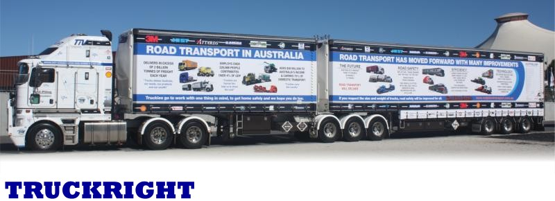 TRUCKRIGHT Industry Vehicle Kenworth K200 B Double Tautliner