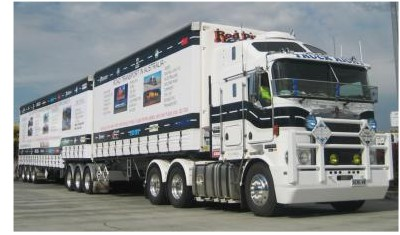 The TRUCKRIGHT 25 Metre 2 Trailer B Double