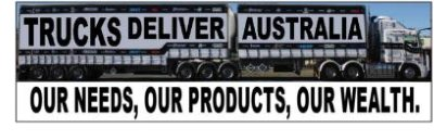 Trucks Deliver Australia Bumper Sticker